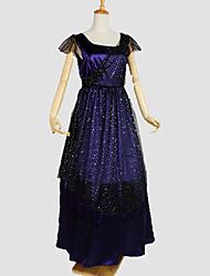 Un Pezzo/Vestiti Gotico Look luminoso e scintillante Cosplay Vestiti Lolita Tinta unita A pois Manica corta Alla caviglia Smoking Per