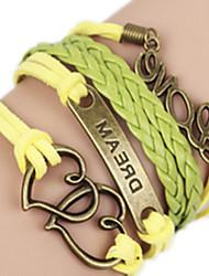 Women's Bangles Alloy Handmade Heart Love Jewelry 1pc