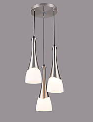Max 60W*3 Pendant Light   Modern/Contemporary Chrome Feature for Designers Glass Living Room / Dining Room / Kitchen / Kids Room / Hallway