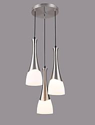 Подвесные лампы ,  Современный Хром Особенность for Конструкторы Стекло Гостиная Столовая Кухня Детская Коридор