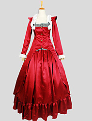 Outfits Gothic Lolita Victorian Cosplay Lolita Dress Solid Striped Long Sleeve Ankle-length Tuxedo For Spandex