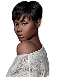 Natural Wavy Short Bob Cut Wig Machine Made Short Wig Virgin Human Hair None Lace Brazilian Hair Straight Bob Wig