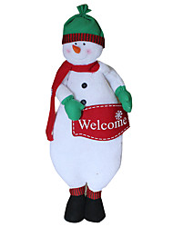 Christmas Toys / Gift Bags Holiday Supplies Snowman Textile White All