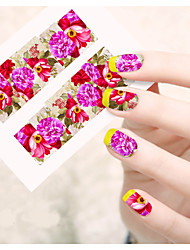 1pcs  Water Transfer Nail Art Stickers  Colorful Flower Nail Art Design STZ121-125