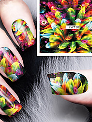Fashion Printing Pattern Colorful Transfer Printing Nail Stickers