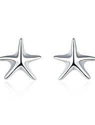 Starfish Ear Butyl Star Silver Simple Stud Earrings