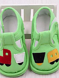 Baby Flats First Walkers Fabric Casual Yellow Green Orange