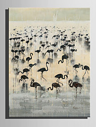 E-HOME Stretched Canvas Artherd of Cranes Decoration Painting One Pcs