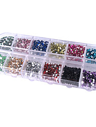 2000PCS Colorful Round 2MM Acrylic Nail Art Decorations