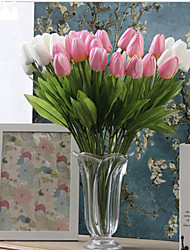 The Pu Simulation Flower Mini Tulip Zadeh Feel Tulip Simulation Decorative Artificial Flowers