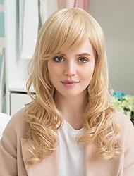 Elegant Partial Bangs Prevailing Long Curly Hair Glamorous Human Hair Wig