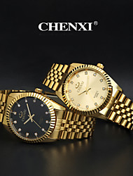 CHENXI® Men's Fashion Watch Golden Stainless Steel Imitation Diamond Quartz Wrist Watch Brand Cool Watch Dress Watch Unique Watch