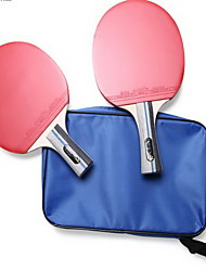 Table Tennis Rackets Ping Pang Wood Long Handle Pimples 2 Rackets 3 Table Tennis Balls 1 Table Tennis Bag Indoor-#