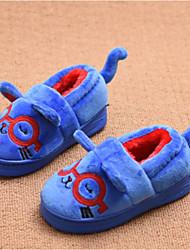 Girl's Slippers & Flip-Flops Fall Winter Comfort Fleece Casual Flat Heel Black Blue Red
