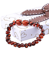 HOT 14cm Natural Amber Stones Bracelet Gifts for Baby Certificate Baltic Teething Genuine Mellite Bead 6 Colors