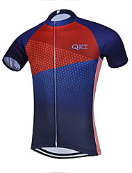 Sports QKI USA Cycling Jersey Men's Short Sleeve Bike Breathable / Quick Dry / Anatomic Design / Front Zipper / Back Pocket / Sweat-wicking Jersey