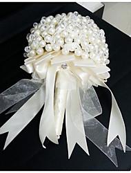 Fleurs de mariage Rond Roses Bouquets Le Party / soirée Satin Env.23cm