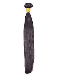 "1pcs/lot 12""-30""  Brazilian Virgin Hair Natural Black Silky Straight Human Hair Extensions Hair Weaves"