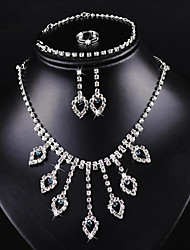 May polly  Ruili fashion classic Necklace Earrings Ring Bracelet Set
