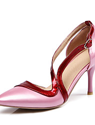 Women's Heels Spring Summer Fall Winter Others Patent Leather Wedding Dress Party & Evening Stiletto Heel Buckle Black Pink Red Fuchsia