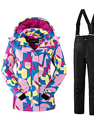 Ski Wear Clothing Sets/Suits Kid's Winter Wear Polyester Classic Fashion Winter Clothing Thermal / Warm Protective ComfortableSkiing