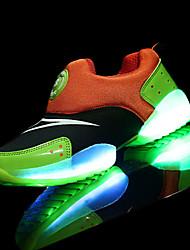 Mädchen-Loafers & Slip-Ons-Sportlich-PU-Flacher Absatz-Komfort Light Up Schuhe-Rosa
