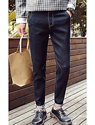 Herren Skinny Jeans Hose-Lässig/Alltäglich Einfach Druck Pailletten Mittlere Hüfthöhe Reisverschluss Baumwolle Micro-elastisch All Seasons