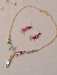 Jewelry Set Women's Wedding / Engagement / Party / Special Occasion Jewelry Sets Alloy Multi-color Rhinestone