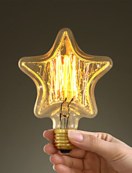 40W E27 Retro Industry Style Transparent Incandescent Bulb in Star Shape