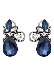 Women's Stud Earrings Sapphire Love Crystal Jewelry For Wedding Party Daily