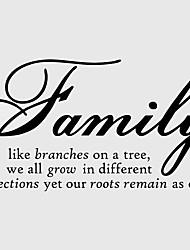 la famille comme des branches maison Stickers muraux décoratifs zy8082 ADESIVO de parede vinyle amovible stickers muraux