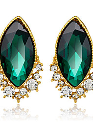 Drop Earrings Crystal Crystal Zircon Cubic Zirconia Green Jewelry Wedding Party Daily 1 pair