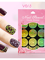 New Nail Art Hollow Stickers Colorful Flower Geometric Image  Design  Nail Art Beauty Y011-020