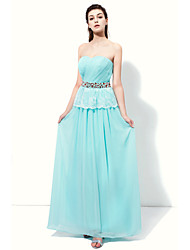 Floor-length Sweetheart Bridesmaid Dress - Sparkle & Shine Elegant Sleeveless Chiffon