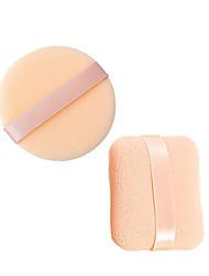 1-pakning Firkantet & 1-pakning Rund 6 cm Ansiktsvamp Sminke Kosmetikk