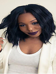 Lace Front Wig 100% Human Hair Natural Straight Wig For African American Women