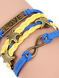 Bracelet Bangles Alloy Heart / Love Handmade Birthday / Daily Jewelry Gift Yellow / Blue,1pc