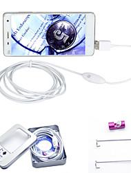 joyshine 3.5m 7 milímetros 6LED 2 em 1 endoscópio android câmara de inspecção impermeável OTG micro usb
