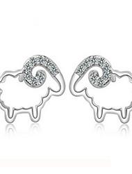 Women's Stud Earrings Sterling Silver Jewelry For Party