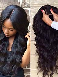 joywigs não transformados perucas de cabelo humano brasileiro rendas cabelo virgem onda do corpo perucas frontal com cabelo do bebê para