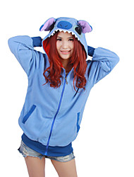 Kigurumi Pajamas Leotard/Onesie Festival/Holiday Animal Sleepwear Halloween Blue Patchwork Polar Fleece Kigurumi For UnisexHalloween /