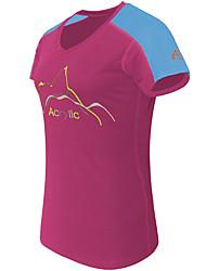 Corrida Camiseta Mulheres Manga Curta Respirável / Secagem Rápida / Confortável TeryleneAcampar e Caminhar / Exercício e Atividade Física