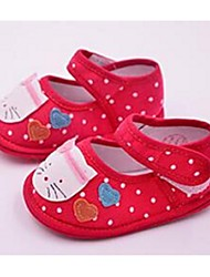 Kids' Baby Flats First Walkers Fabric Casual First Walkers Black Ruby Blushing Pink Flat