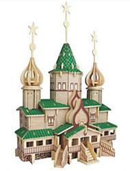 Puzzles Puzzles en bois Building Blocks DIY Toys Chasseur Bâtiment Célèbre 1 Bois Ivoire Maquette & Jeu de Construction
