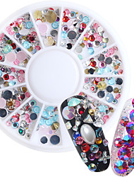Fashion Colorfor Mix Acrylic Nail Art Decoration Rhinestone Pearls Makeup Cosmetic Nail Art Design