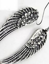 Sans pierre Boucles d'oreille goutte Bijoux Femme Quotidien Argent sterling 1 paire A Motifs
