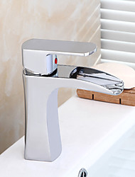 Chrome Bathroom Sink Faucet Contemporary Design Waterfall