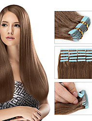Cheap Tape in Human Hair Extension 20pcs Lot Double Drawn Brazilian Virgin Hair Free Shipping Tape Hair Extension