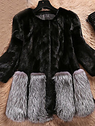 Women's Elegant Faux Fur Jacket Warm Coat