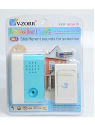 9682 modèles 36 sortes de voix avec une batterie sèche avec un courant continu sonnette sans fil lumineux